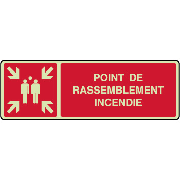 Panneau horizontal photoluminescent point rassemblement