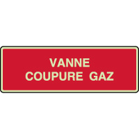 Panneau photoluminescent vanne coupure gaz