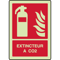 Panneau photoluminescent vertical extincteur à CO2