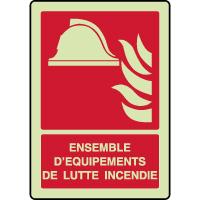 Panneau photoluminescent vertical alarme lutte incendie