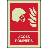 Panneau photoluminescent vertical accès pompiers