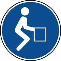 Panneau de position obligatoire pour le dos