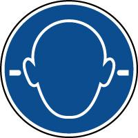 Panneau port des bouchons d'oreilles obligatoire