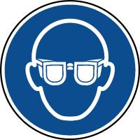 Panneau lunettes de protection obligatoires