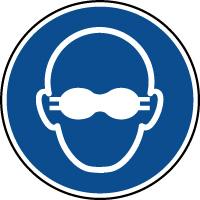 Panneau lunettes de protection opaques obligatoires
