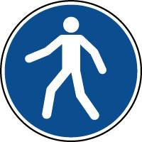 Panneau d'obligation d'utiliser le passage