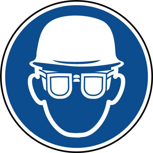 et Panneau obligatoires sécurité de lunettes casque W2YDHIE9