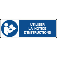 Panneau horizontal utiliser la notice d'instructions