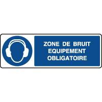 Panneau horizontal zone de bruit équipement obligatoire