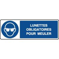 Panneau horizontal lunettes obligatoires pour meuler
