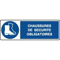 Panneau horizontal chaussures de sécurité obligatoires