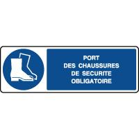 Panneau horizontal port des chaussures sécurité obligatoire