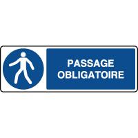 Panneau d'obligation horizontal passage obligatoire