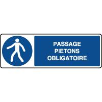 Panneau horizontal passage piétons obligatoire