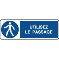 Panneau d'obligation horizontal Utilisez le passage