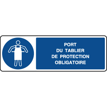 Panneau horizontal port du tablier de protection obligatoire