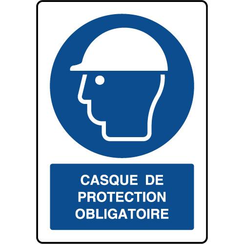 Panneau vertical casque de protection obligatoire - Virages.com db270af4cef6