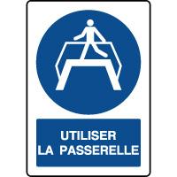Panneau d'obligation vertical utiliser la passerelle