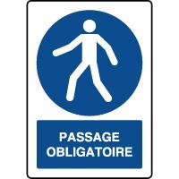 Panneau d'obligation vertical passage obligatoire