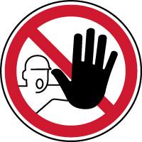 Panneau d'interdiction accès interdit