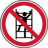 Panneau interdiction de grimper à l'échelle