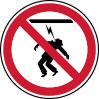 Panneau interdiction haute tension ne pas toucher