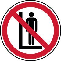 Panneau interdiction de lever des personnes