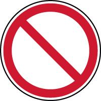 Panneau d'interdiction générale