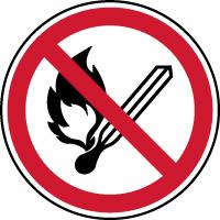 Panneau flammes nues interdites