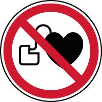 Panneau d'interdiction stimulateur cardiaque