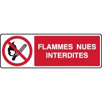 Panneau horizontal flammes nues interdites