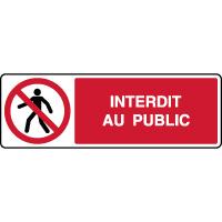 Panneau horizontal interdit au public