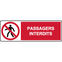 Panneau horizontal passagers interdits
