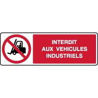 Panneau horizontal interdit aux véhicules industriels