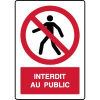 Panneau vertical interdit au public