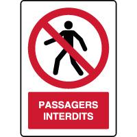 Panneau vertical passagers interdits