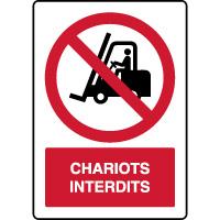 Panneau vertical chariots interdits