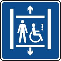 Panneau d'information ascenseur handicapé