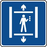 Panneau d'information ascenseur
