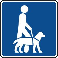 Panneau d'information chiens guides autorisés