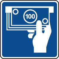Panneau d'information distributeur de billets