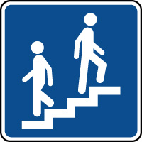 Panneau d'information escalier