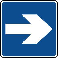 Panneau d'information flèche directionnelle