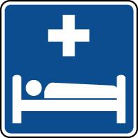 Panneau d'information hôpital infirmerie