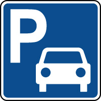 Panneau d'information parking