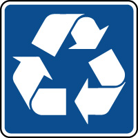 Panneau d'information recyclage