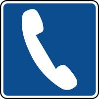Panneau d'information ISO téléphone
