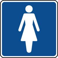 Panneau d'information toilettes femmes