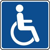Panneau d'information toilettes handicapés