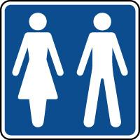 Panneau d'information toilettes hommes/femmes